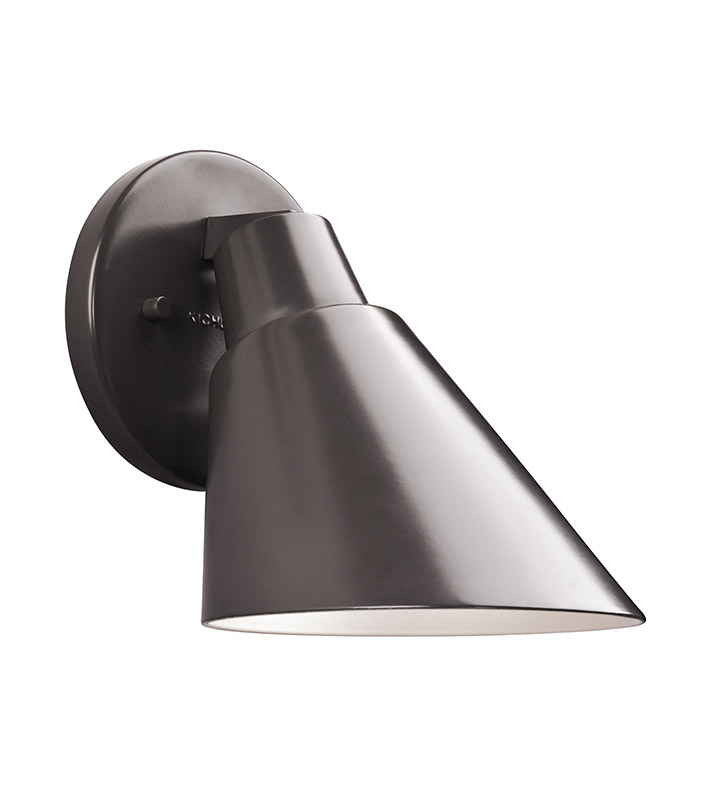 Kichler 49082AZ Beach Light Collection 1 Light Outdoor Wall Sconce in Architectural Bronze