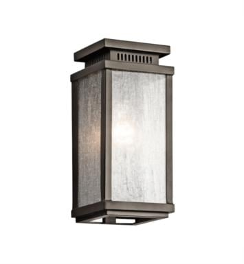 "Kichler 49384OZ Manningham 1 Light 5"" Incandescent Outdoor Wall Sconce in Olde Bronze"