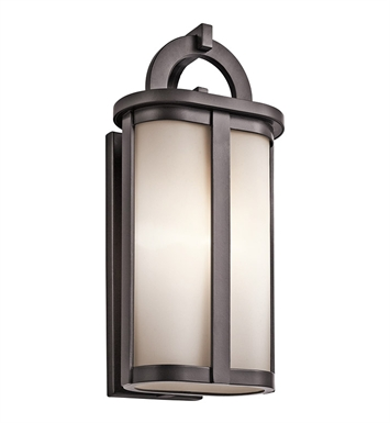Kichler 49469AZ Rivera Collection 1 Light Outdoor Wall Sconce in Architectural Bronze