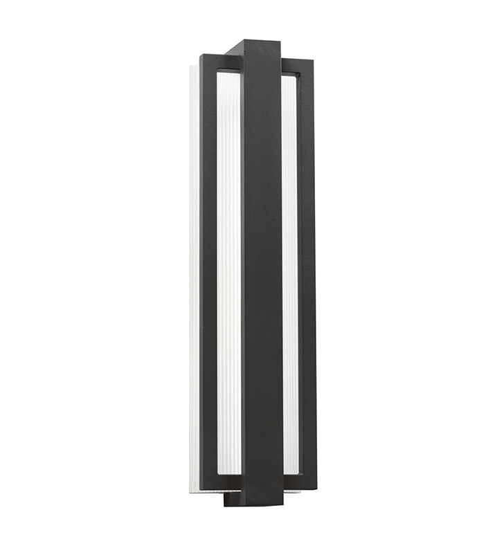 Kichler 49435SBK Sedo Collection 1 Light Outdoor Wall Sconce in Satin Black
