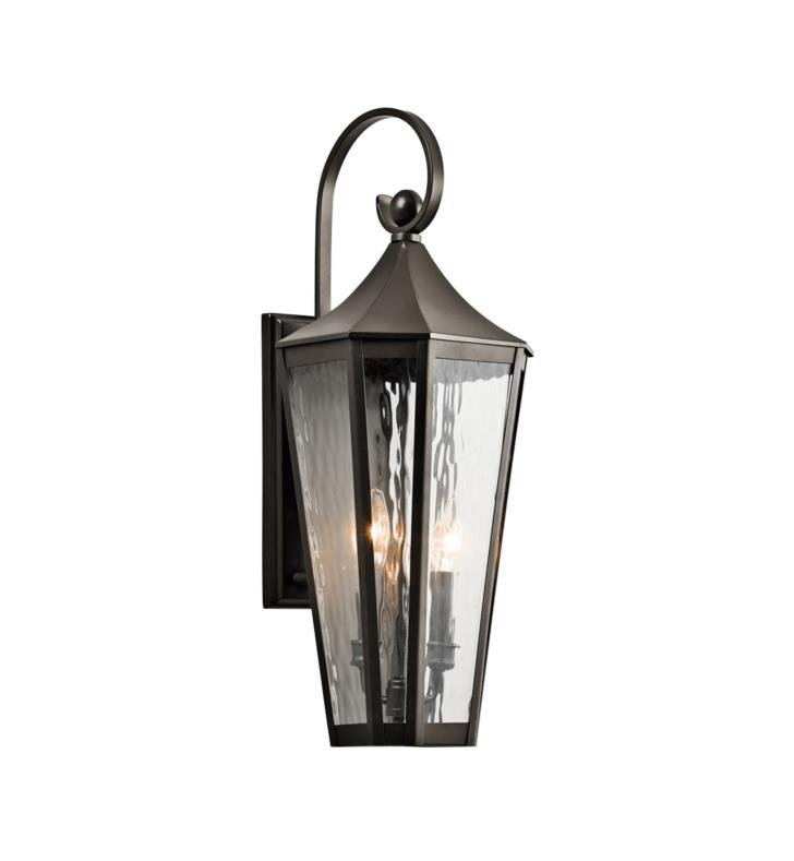"Kichler 49513OZ Rochdale 2 Light 9"" Incandescent Outdoor Wall Sconce in Olde Bronze"