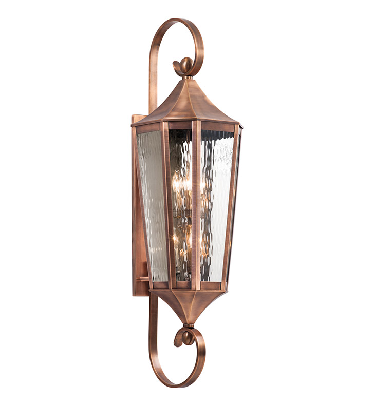 Kichler 49515ACO Stonebrook Collection 6 Light Large Outdoor Wall Sconce in Antique Copper