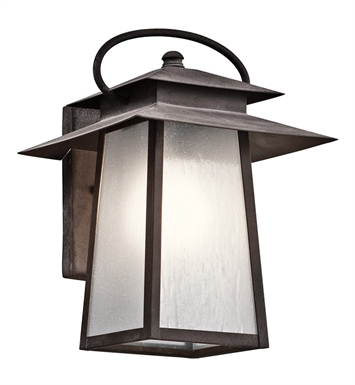 Kichler 49530WZC Woodland Lake Collection 1 Light Outdoor Wall Sconce in Pewter