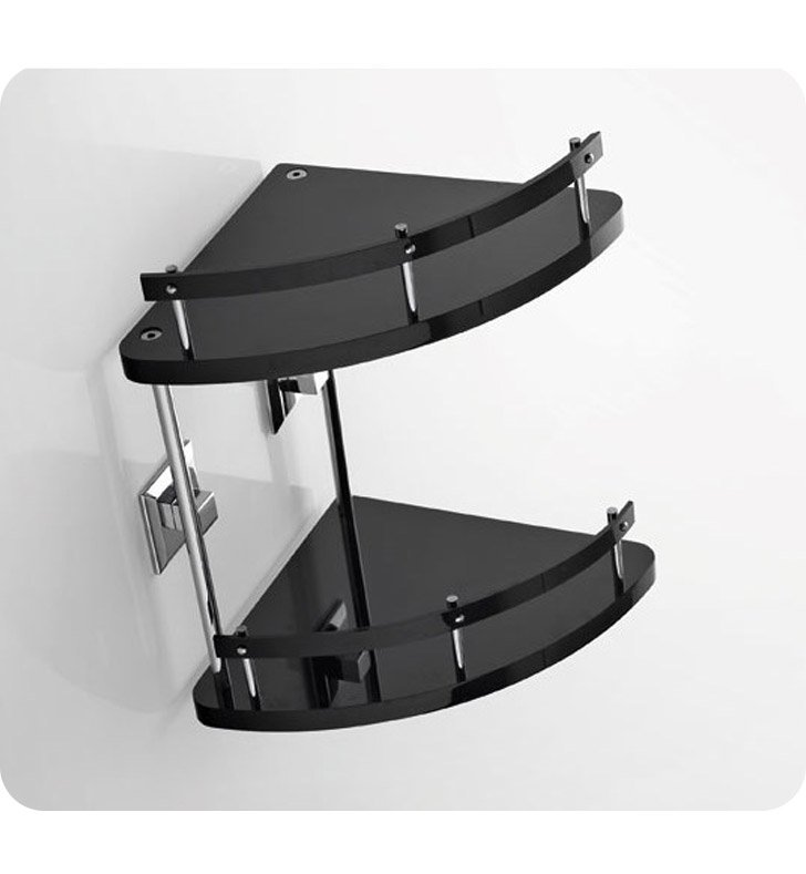 Nameeks G233-14 Toscanaluce Bathroom Shelf With Finish: Black