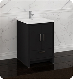 "Fresca FCB9424DGO-I Imperia 24"" Dark Gray Oak Free Standing Modern Bathroom Cabinet with Integrated Sink"