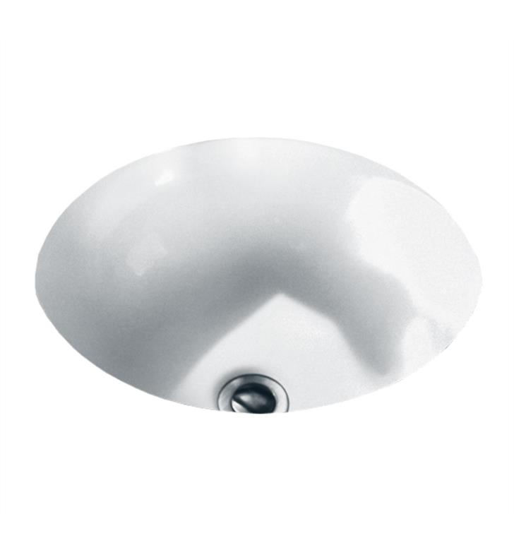American Standard 0630000.020 Orbit Undercounter Sink With Finish: White