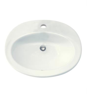 "American Standard 0478403.021 Piazza Countertop Sink With Finish: Bone And Faucet Holes: 4"" Centers"