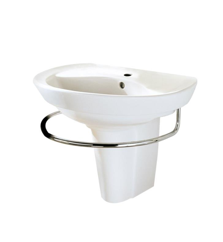 American Standard 0268144.020 Ravenna Wall-Mount Sink With Finish: White And Faucet Holes: Center Hole Only