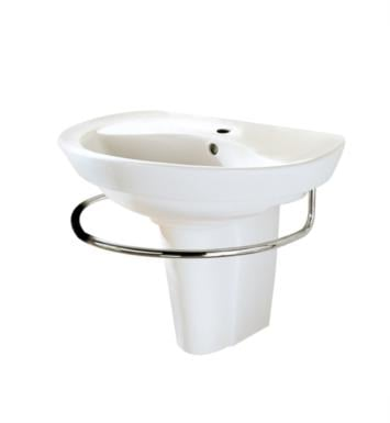 "American Standard 0268444.020 Ravenna Wall-Mount Sink With Finish: White And Faucet Holes: 4"" Centers"