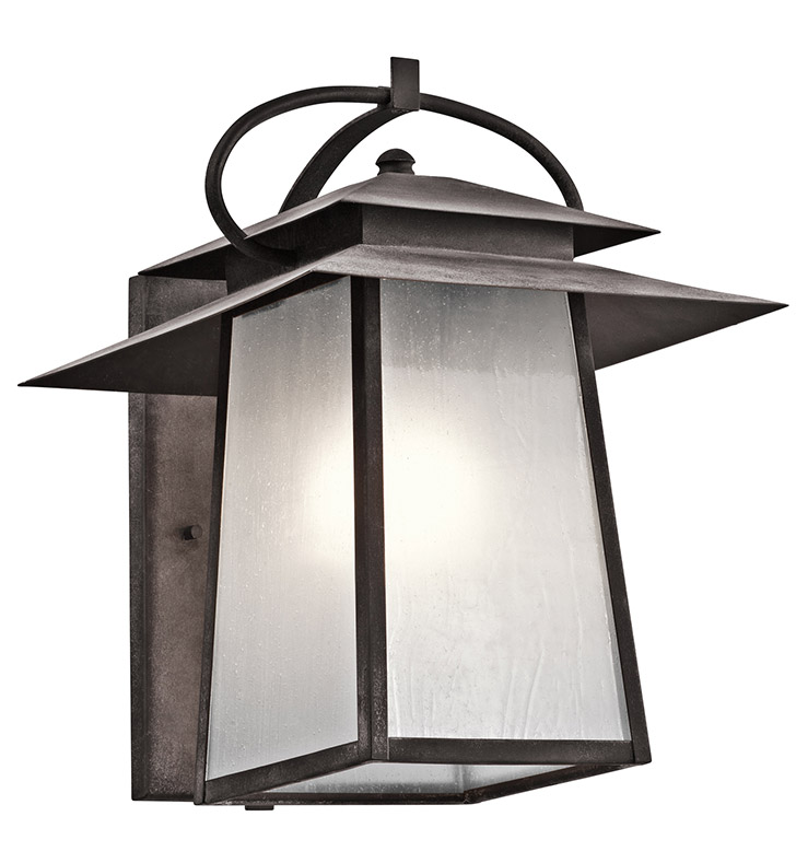 Kichler 49531WZC Woodland Lake Collection 1 Light Outdoor Wall Sconce in Pewter
