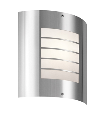 Kichler 6040PSS316 One Light Outdoor Wall Sconce in Silver