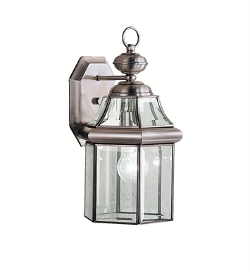 Kichler 9784AP Embassy Row Collection 1 Light Outdoor Wall Sconce in Antique Pewter