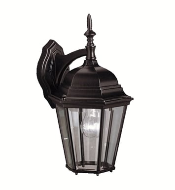 Kichler 9655BK One Light Outdoor Wall Sconce in Black (Painted)
