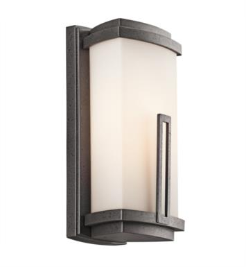 "Kichler 49110AVI Leeds 1 Light 5 3/4"" Incandescent Outdoor Wall Sconce in Anvil Iron"