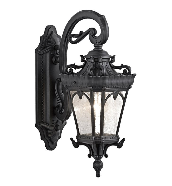 Kichler 9356BKT Tournai Collection 1 Light Outdoor Wall Sconce in Textured Black