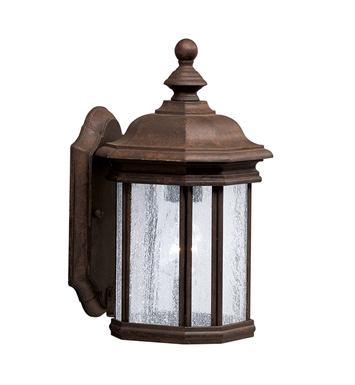 Kichler 9028TZ 1-Bulb Outdoor Wall Sconce in Tannery Bronze Finish from the Kirkwood Collection