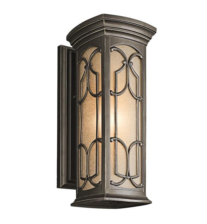 "Kichler 49227OZ Franceasi 1 Light 7"" Incandescent Outdoor Wall Sconce in Olde Bronze"