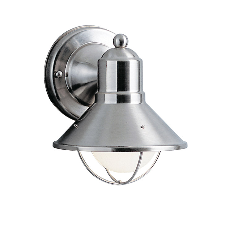 Kichler 9021NI Seaside Collection 1 Light Outdoor Wall Sconce in Brushed Nickel