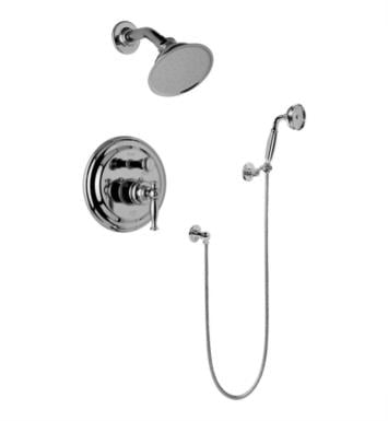 Graff G-7167-LM22S-PC Lauren Full Pressure Balancing System Shower with Handshower With Finish: Polished Chrome And Rough / Valve: Trim + Rough