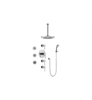 Graff GB1.131A-LM37S-SN M.E./M.E. 25 Contemporary Square Thermostatic Set with Body Sprays and Handshower With Finish: Steelnox (Satin Nickel) And Rough / Valve: Trim + Rough