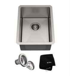 "Kraus KHU101-14 Standart Pro 14"" Single Bowl Undermount Stainless Steel Square/Rectangular Kitchen Sink"