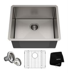 "Kraus KHU101-21 Standart Pro 21"" Single Bowl Undermount Stainless Steel Square/Rectangular Kitchen Sink"