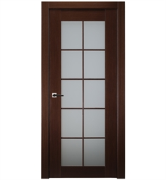 Belldinni 10LFR-W 10 Lite Classica Lux French Interior Door in Wenge Finish with Frosted Glass