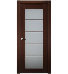 Belldinni 5LFR-W 5 Lite Classica Lux French Interior Door in Wenge Finish with Frosted Glass