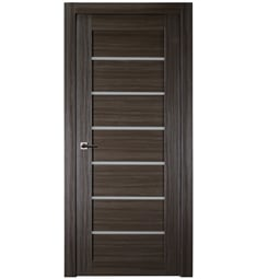 Belldinni ALBA-GO Alba Interior Door in Gray Oak Finish with Frosted Glass