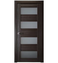 Belldinni DELLA-GO Della Interior Door in Gray Oak Finish with Frosted Glass
