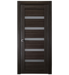 Belldinni LEORAG-GO Leora Vetro Interior Door in Gray Oak Finish with Frosted Glass