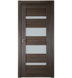 Belldinni MIRG-GO Mirella Vetro Interior Door in Gray Oak Finish with Frosted Glass