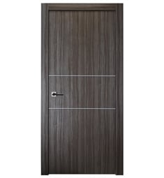 Belldinni PALL2H-GO Palladio 2H Interior Door in Gray Oak Finish with Aluminum Moldings