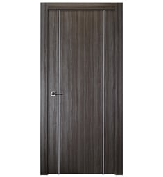 Belldinni PALL2U-GO Palladio 2U Interior Door in Gray Oak Finish with Aluminum Moldings