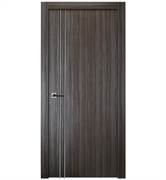 Belldinni PALL2V-GO Palladio 2V Interior Door in Gray Oak Finish with Aluminum Moldings