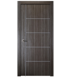 Belldinni PALL4H1V-GO Palladio 4H1V Interior Door in Gray Oak Finish with Aluminum Moldings