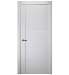 Belldinni SP4H1V-PW Smart Pro 4H1V Interior Door in Polar White Finish with Aluminum Moldings