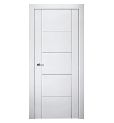 Belldinni SP4H2U-PW Smart Pro 4H2U Interior Door in Polar White Finish with Aluminum Moldings