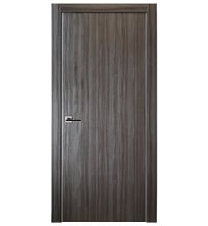 Belldinni UNICA-GO Unica Interior Door in Gray Oak Finish with Aluminum Edges