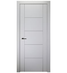 Belldinni UNICA4H2U-BN Unica 4H2U Interior Door in Bianco Noble Finish with Aluminum Moldings and Aluminum Edges