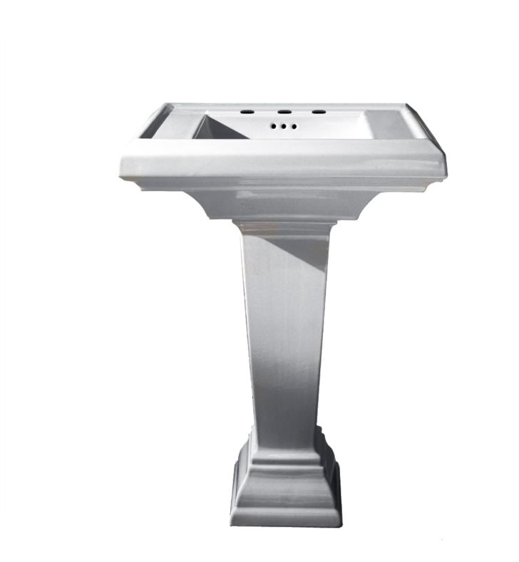 American Standard 0780800.020 Town Square 27 Inch Pedestal Sink With Finish: White