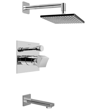 Graff G-7290-C10S Contemporary Pressure Balancing Tub and Shower Set