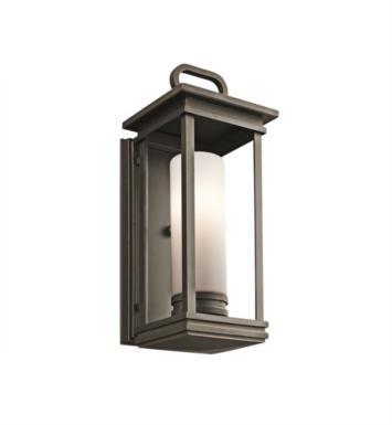 "Kichler 49475RZ South Hope 1 Light 7"" Incandescent Outdoor Wall Sconce in Rubbed Bronze"