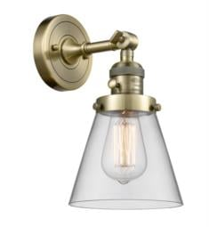"Innovations Lighting 203SW-G62 Small Cone 6 1/4"" One Light Up/Down Clear Glass Wall Sconce with LED or Incandescent Bulb Option"
