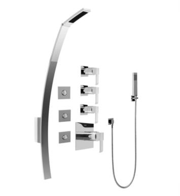 "Graff GF1.120A-LM38S Qubic 53 3/8"" Thermostatic Shower Set with Body Sprays and Handshower"