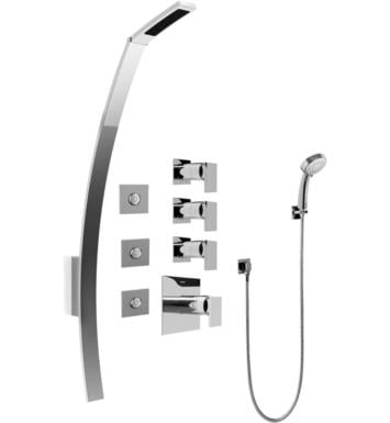 "Graff GF1.130A-LM31S-PC Solar/Structure 53 3/8"" Thermostatic Shower Set with Body Sprays and Handshower With Finish: Polished Chrome And Rough / Valve: Trim + Rough"