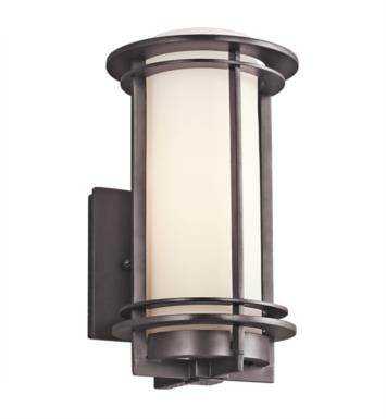 "Kichler 49344AZ Pacific Edge 1 Light 6"" Incandescent Outdoor Wall Sconce in Architectural Bronze"