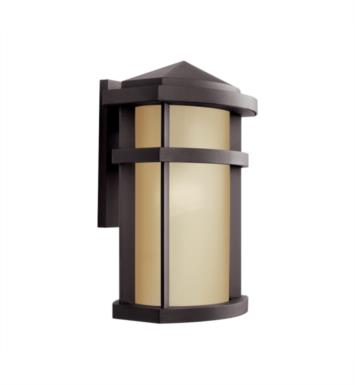 "Kichler 11069AZ Lantana 1 Light 10 1/2"" Fluorescent Outdoor Wall Sconce in Architectural Bronze"