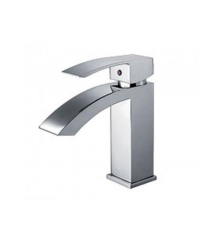 Whitehaus WH2010001-C Jem Collection Single hole/Single lever Lavatory Faucet with Pop-up Waste With Finish: Polished Chrome