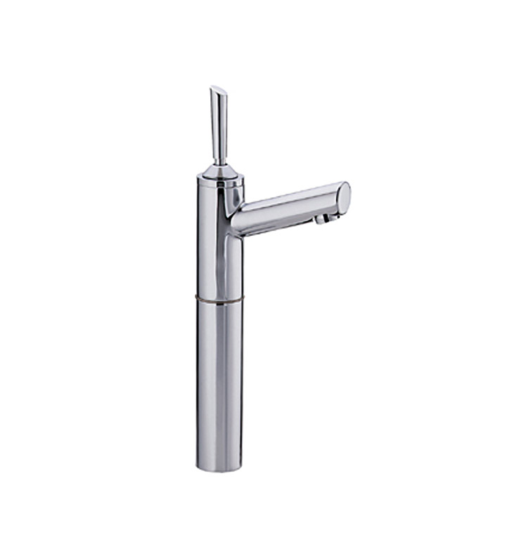 Whitehaus WH-3-3345-BN Centurion Single hole Stick handle Lavatory Faucet with Short Spout With Finish: Brushed Nickel